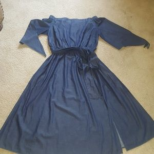 Eloquii Dresses - NWOT off shoulder denim dress